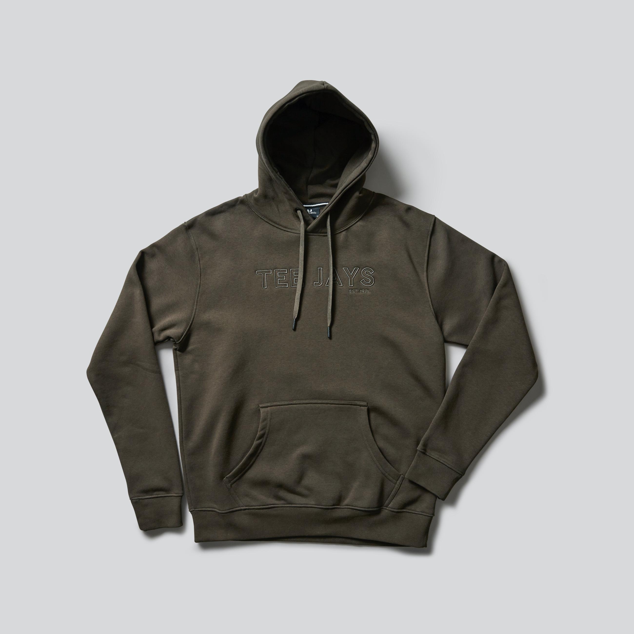 Tee Jays Outlined Hooded Sweatshirt