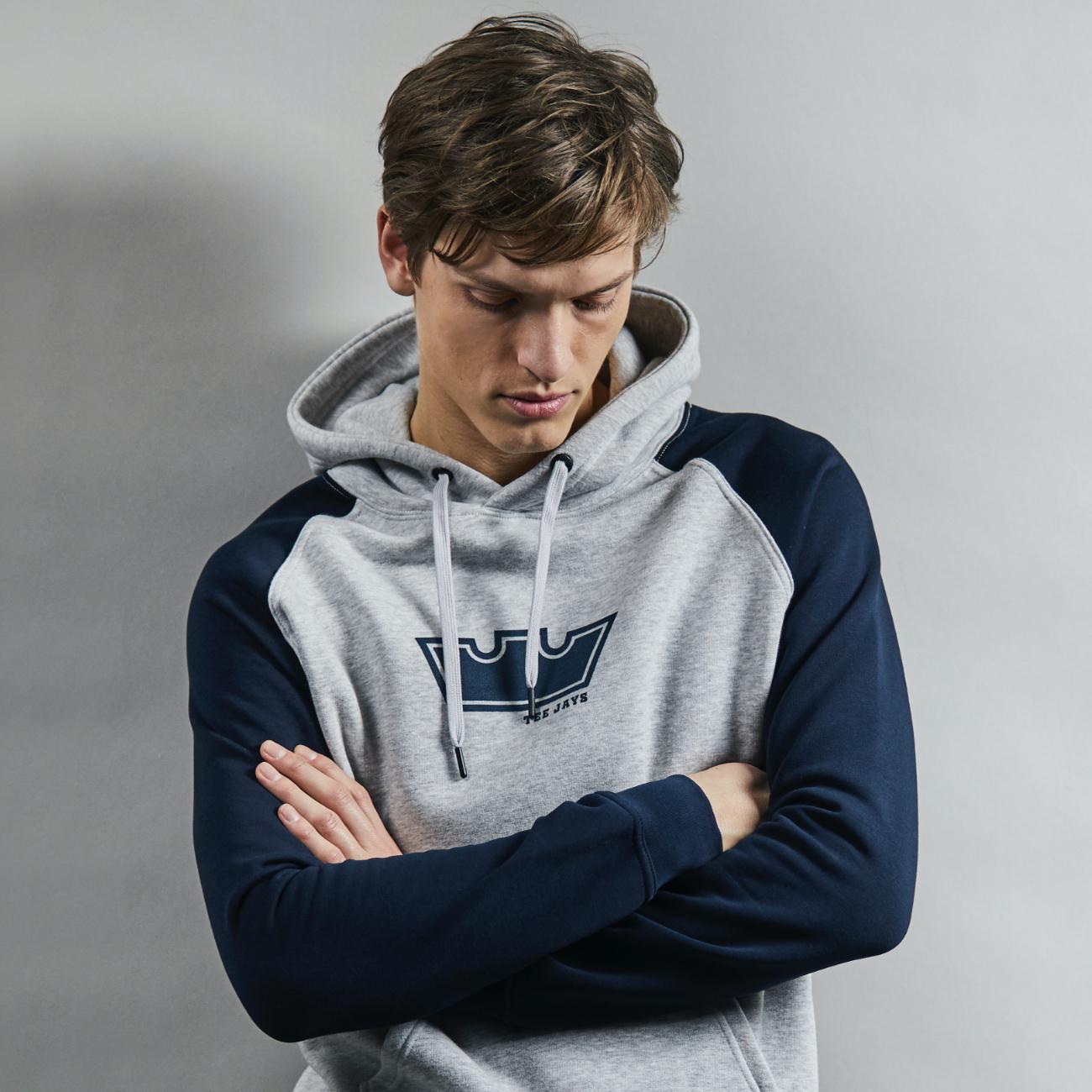 Power Crown Two-Tone Hooded Sweatshirt