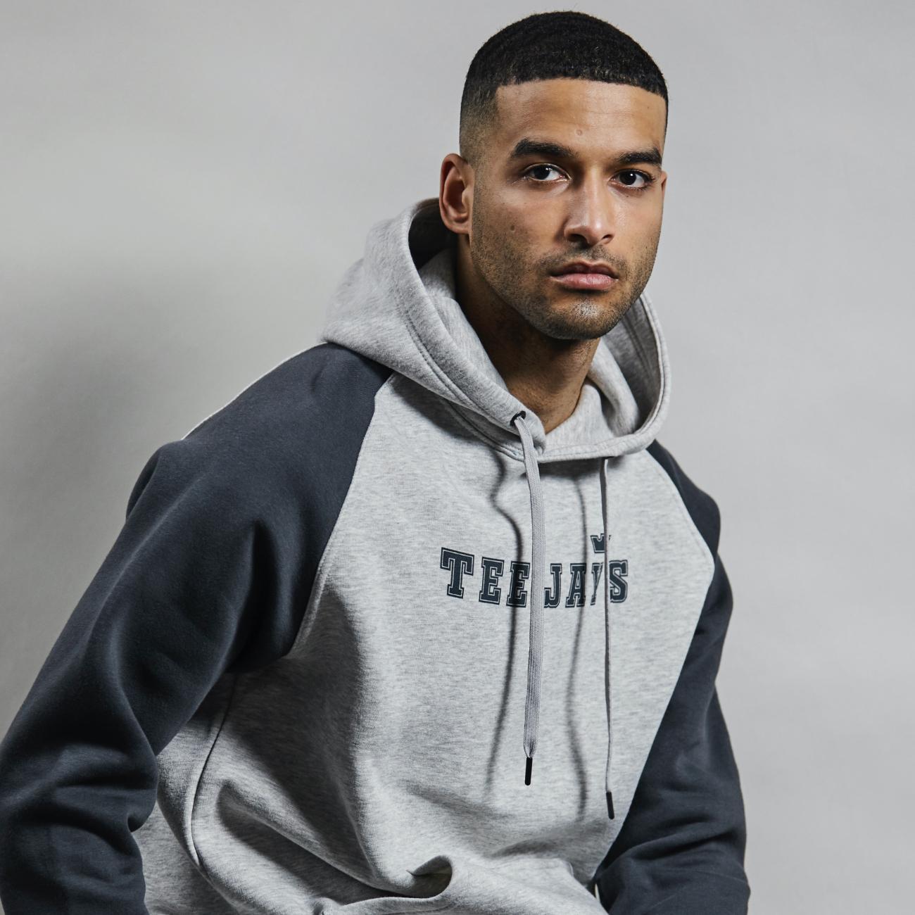 Tee Jays Two-Tone Hooded Sweatshirt